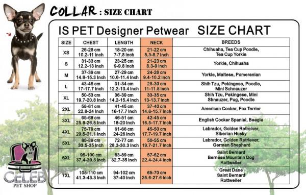 Collar : Size chart