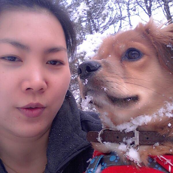 เล่นหิมะเลอะหมดเลย