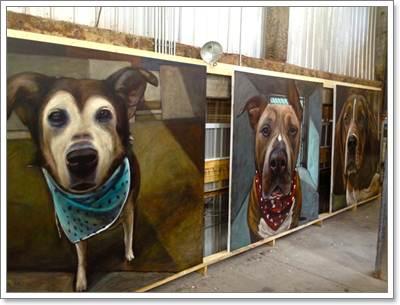 Dogilike.com :: ศิลปินมะกันวาดภาพรณรงค์ หยุดฆ่าสุนัขในศูนย์พักพิง!