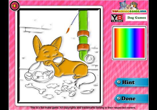 Dogilike.com :: Bolt Coloring แต่งเติมสีเจ้าตูบ