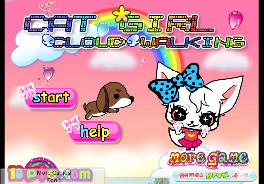 Dogilike.com :: Cat Girl Cloud Walking แมวเหมียวหลบเจ้าตูบ