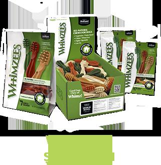 Whimzees, วิมซี่, Shawpet, ชอว์เพ็ท, ขนมขัดฟัน, รูปแปรงสีฟัน, วัตถุดิบจากธรรมชาติ, ลดกลิ่นปากน้องหมา, ลดคราบหินปูน, ลมหายใจสดชื่น, Made in Holland, Alfafa, Annatto fruite, Malt, Kanoodles, Fruit care Forcans