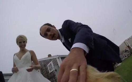Dogilike.com :: วันแห่งความสุข ! เมื่อบ่าวสาวติดกล้อง GoPro ให้น้องหมาในงานแต่งงาน