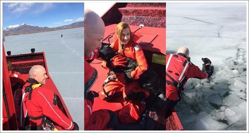 Dogilike.com :: รอดหวิด! เจ้าตูบตกทะเลสาบน้ำแข็ง 5 วัน ก่อนกู้ภัยช่วยสำเร็จ