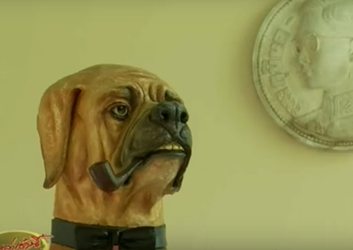 Dogilike.com :: ประติมากรรมคุณทองแดง-คุณโจโฉ สุนัขทรงเลี้ยงแสนรู้ ในหลวง ร.๙ ประดับพระเมรุมาศ
