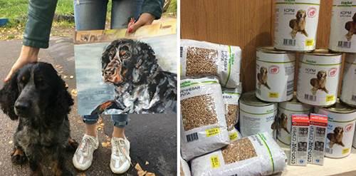 Dogilike.com :: เด็ก 9 ขวบเจ๋ง! รับวาดภาพสัตว์เลี้ยงแลกอาหารให้สุนัขไร้บ้าน