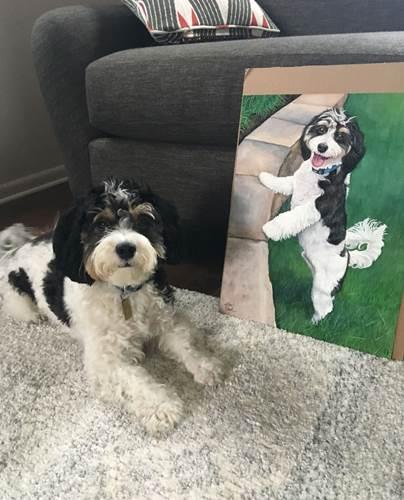 Dogilike.com :: ศิลปินเผยภาพน้องหมาตัวจริงกับภาพวาดสุดน่ารัก เป๊ะกว่านี้ไม่มีอีกแล้ว!