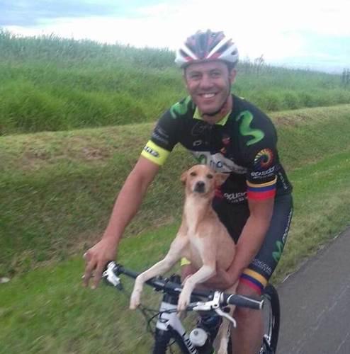 Dogilike.com :: หนุ่มนักปั่นแวะสูบลมข้างทาง พบลูกหมาถูกทิ้งเลยอุ้มกลับไปด้วย !