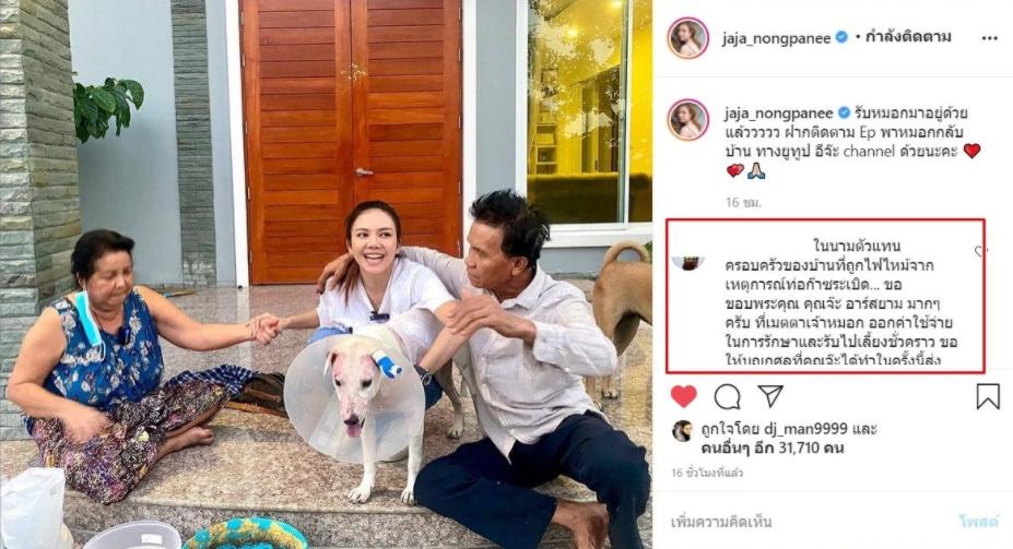Dogilike.com :: จ๊ะ อาร์สยาม เผยภาพชีวิตใหม่ หมอก น้องหมารอดชีวิตจากเหตุท่อก๊าซระเบิด