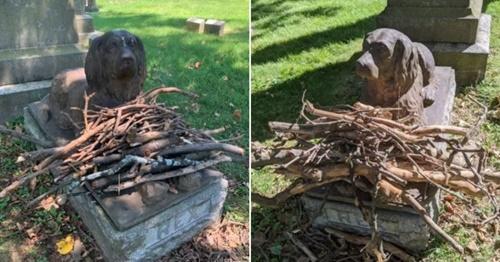 Dogilike.com :: เผยรูปปั้นเจ้าตูบอายุกว่า 100 ปี เคียงข้างหลุมศพเจ้านายที่รัก
