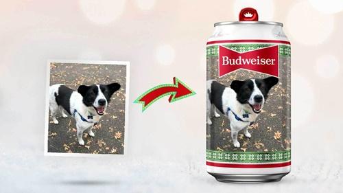 Dogilike.com :: เบียร์บัดไวเซอร์ต้อนรับเทศกาล ให้ส่งภาพเจ้าตูบไปทำเป็นลายบนกระป๋อง!