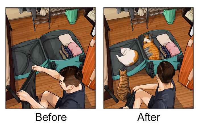 Dogilike.com :: คนเลี้ยงหมารู้! 20 ภาพความเปลี่ยนแปลง เมื่อบ้านมีสัตว์เลี้ยง