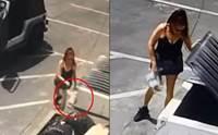 วงจรปิดเผยนาทีหญิงใจร้ายหิ้วลูกหมา 7 ตัวใส่ถุงทิ้งถังขยะ!