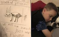 เจ้าตูบถูกขโมย เด็กชาย 7 ปีใจสลายวาดโปสเตอร์ตามหาทั้งน้ำตา!