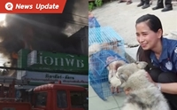 ระทึกกลางบุรีรัมย์ ไฟไหม้ร้านขายสัตว์เลี้ยง โชคดีชาวบ้านช่วย 16 ชีวิต รอดหมด