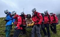 กู้ภัยช่วยชีวิตเซนต์เบอร์นาร์ด หลังตกเขาสูงที่สุดในอังกฤษ!