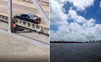 นาทีระทึก! จนท.ช่วยชีวิตหมาจรติดบนสะพานเหนือแม่น้ำมิสซิสซิปปี(คลิป)
