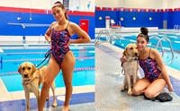 สู้เค้านะ! นักว่ายน้ำตาบอดมีตูบคู่ใจดูแล เตรียมแข่งพาราลิมปิก2021