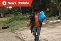 หนุ่มตกงาน แบกน้องหมาเดินทางไกลกลับบ้านที่เมืองเลย